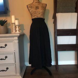Free People long black maxi skirt XS